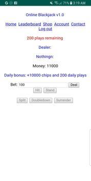 Online Blackjack poster
