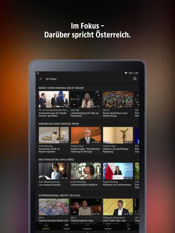 Orf Tvthek For Android Apk Download