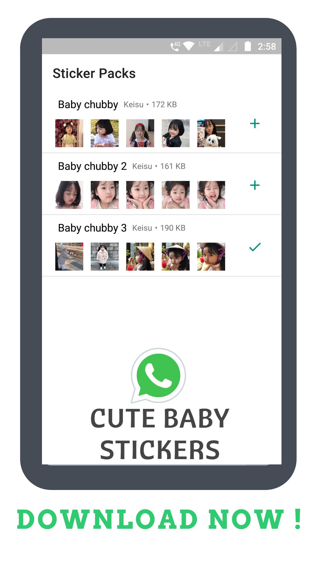Korean Cute Baby Sticker For Whatsapp Gratis For Android Apk Download