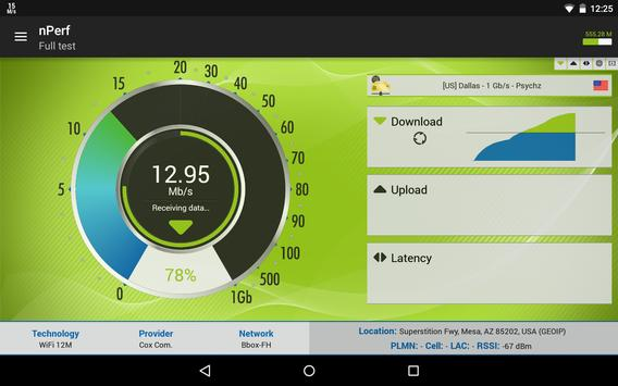 Speed test 3G, 4G, 5G, WiFi & network coverage map screenshot 12