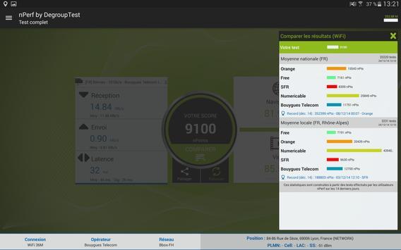 Speed test - Débit Internet & Test wi-fi, 3G, 4G capture d'écran 10