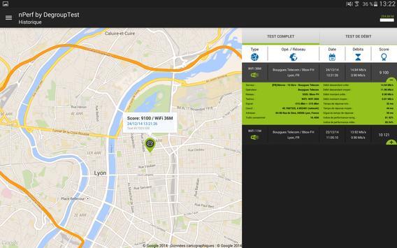 Speed test - Débit Internet & Test wi-fi, 3G, 4G capture d'écran 11