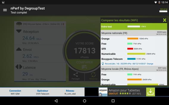 Speed test - Débit Internet & Test wi-fi, 3G, 4G capture d'écran 17
