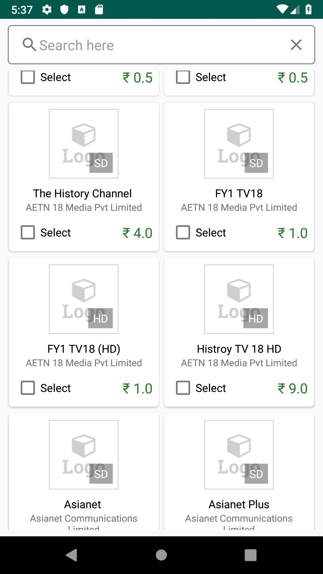 TV Calc - DTH Channel Price calculator for Android - APK Download
