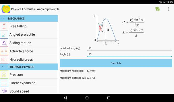 Physics Formulas Free screenshot 6