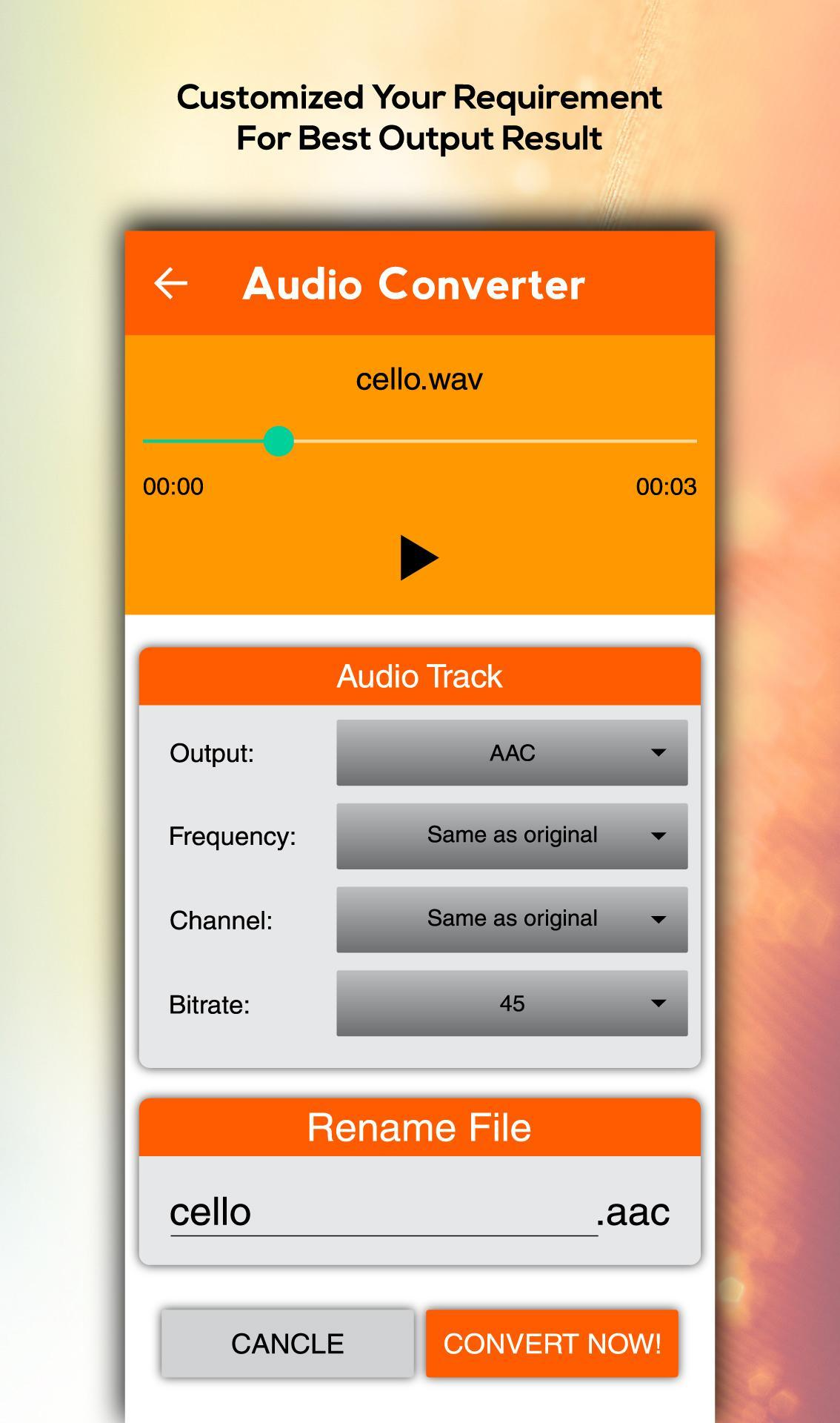 All Audio Converter – MP3, AAC, WAV, M4A, AAC for Android - APK ...