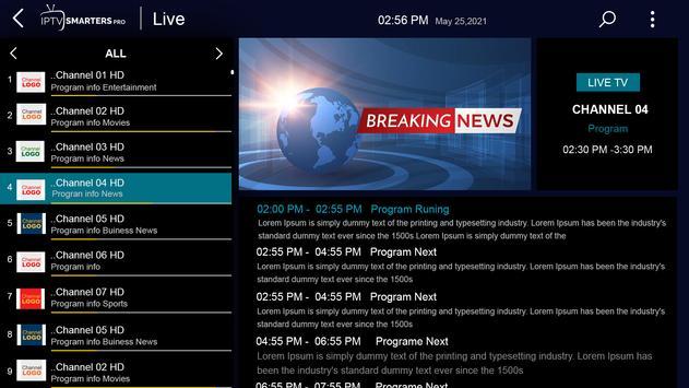 IPTV Smarters Pro تصوير الشاشة 10