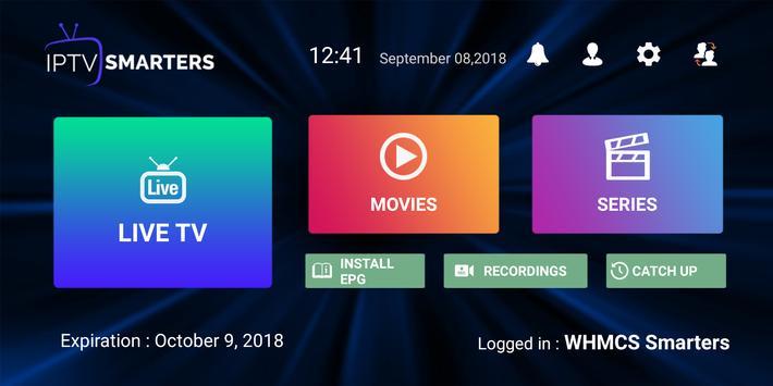 1 Schermata IPTV Smarters Pro