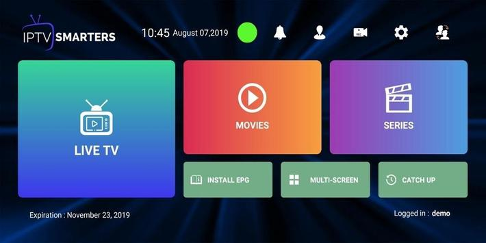 IPTV Smarters Pro captura de pantalla 1