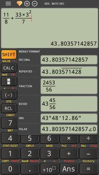 Natural mathematics display fx calculator 991 ms poster