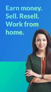Sell. Resell. Earn money online. Work at home job. poster
