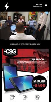 The CSG App 2.0 poster