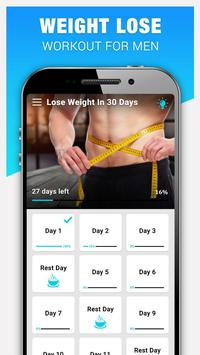 Weight Loss Workout for Men, Lose Weight - 30 Days poster