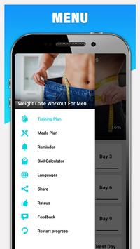 Weight Loss Workout for Men, Lose Weight - 30 Days screenshot 5