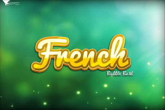 Learn French Bubble Bath Game poster