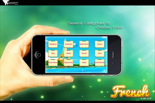 Learn French Bubble Bath Game screenshot 2