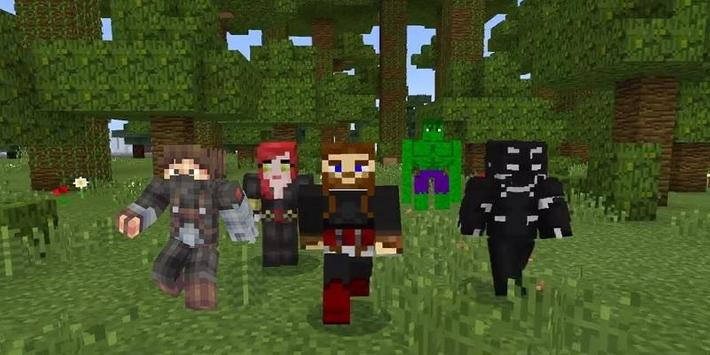 Super Heroes : Infinity Battle Addon for MCPE poster