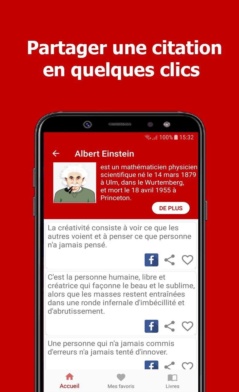 Citations Et Livres D Albert Einstein For Android Apk Download