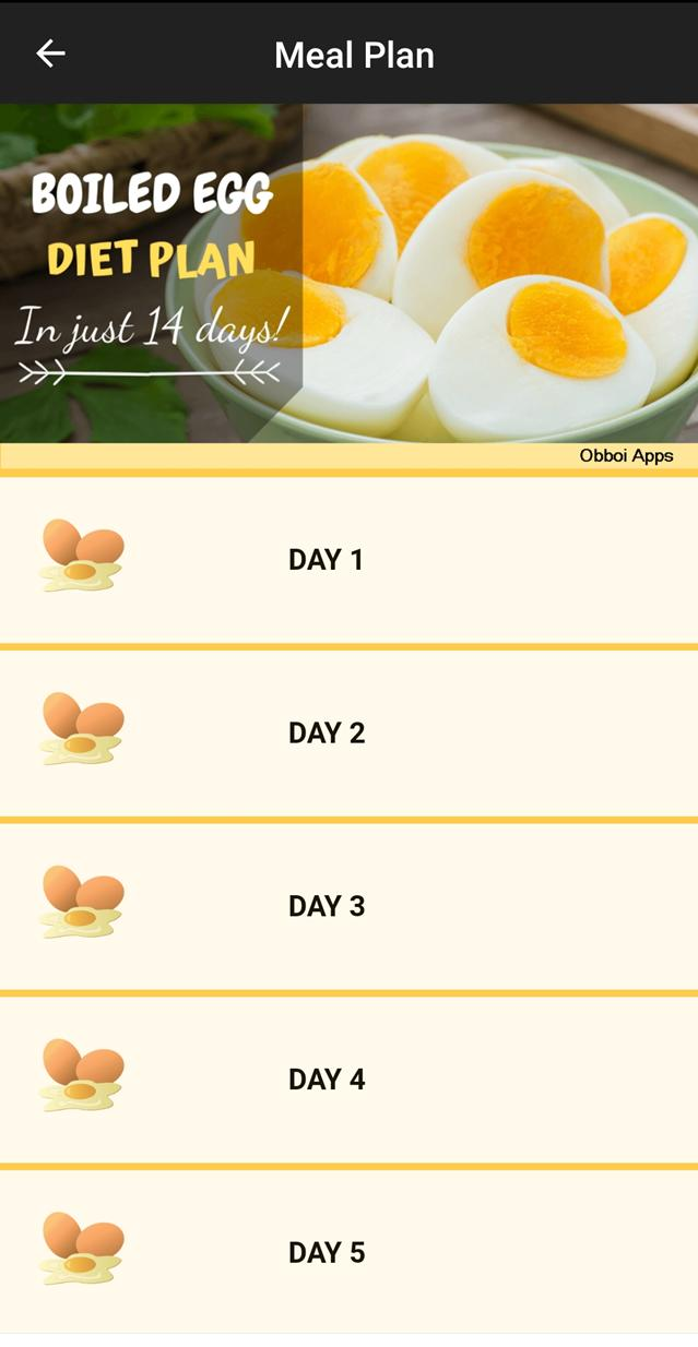 Boiled Egg Diet Meal Plan For Android