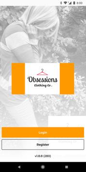 Obsessions Clothing Co poster