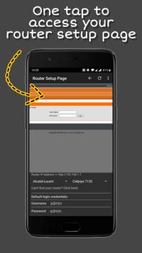 Router Setup Page تصوير الشاشة 1