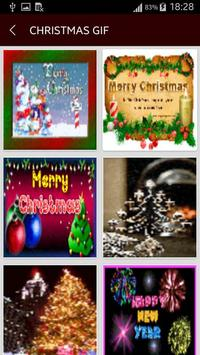 GIF Christmas Santa Wishes Greeting Cards Stickers screenshot 1