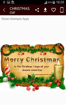 GIF Christmas Santa Wishes Greeting Cards Stickers screenshot 3