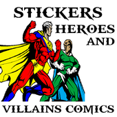 Stickers Heroes and Villains icono