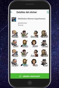 WAStickersApps Memes Superheroes captura de pantalla 3