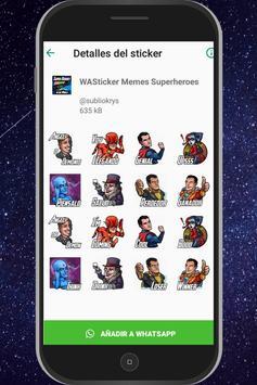 WAStickersApps Memes Superheroes captura de pantalla 2