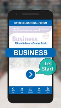 AS & A levels Business Textbook poster