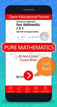 A levels Mathematics Textbook poster