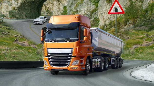 Uphill Logging Truck Game screenshot 3