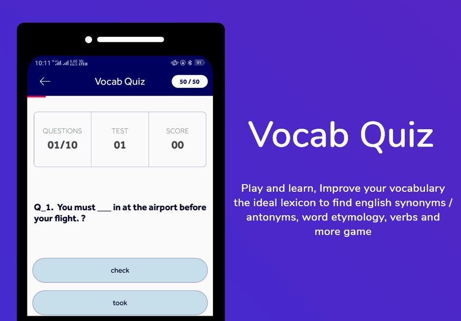 English Dictionary : Translator Word Builder Quiz poster