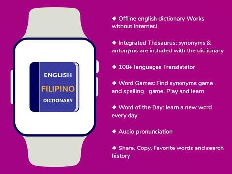 Filipino Dictionary & Translator Word Builder Quiz screenshot 5