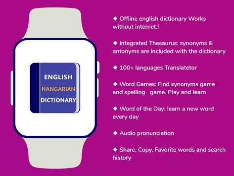 Hungarian Dictionary Translator Word Builder Quiz screenshot 4