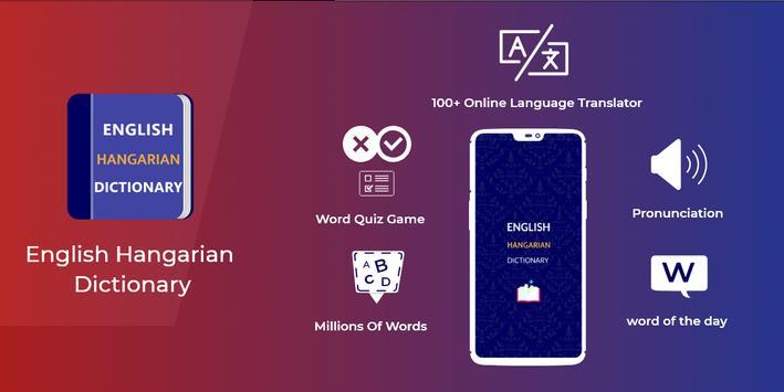 Hungarian Dictionary Translator Word Builder Quiz poster