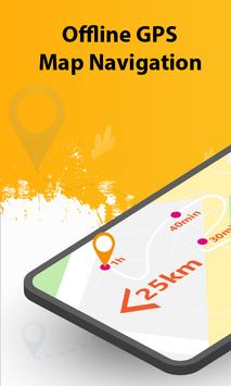 GPS Maps Location Tracker: Shortest Route Finder poster