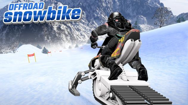 OffRoad Snow Bike تصوير الشاشة 1