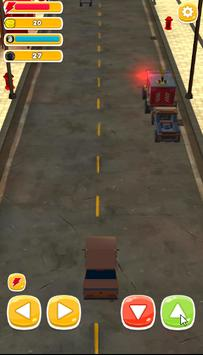 Traffic Run Toy Cars : Train taxi screenshot 1
