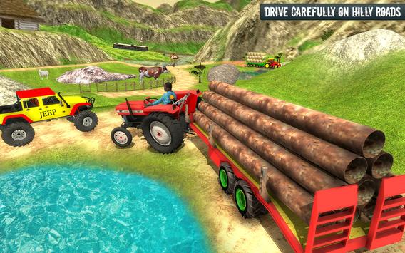 Cargo Tractor Trolley Simulator Farming Game 2019 screenshot 3