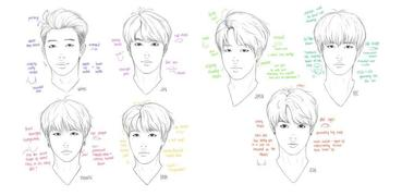 How To Draw BTS Members
