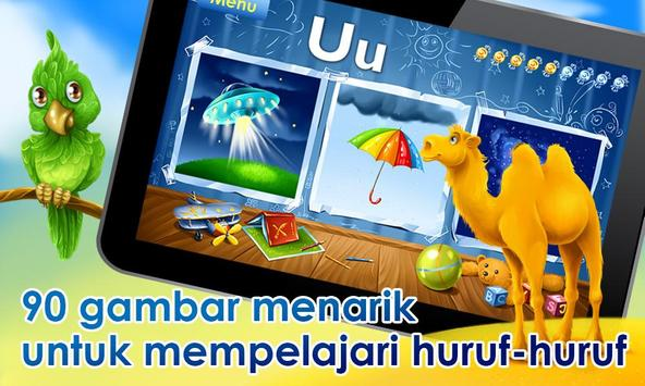 Permainan alfabet untuk anak poster