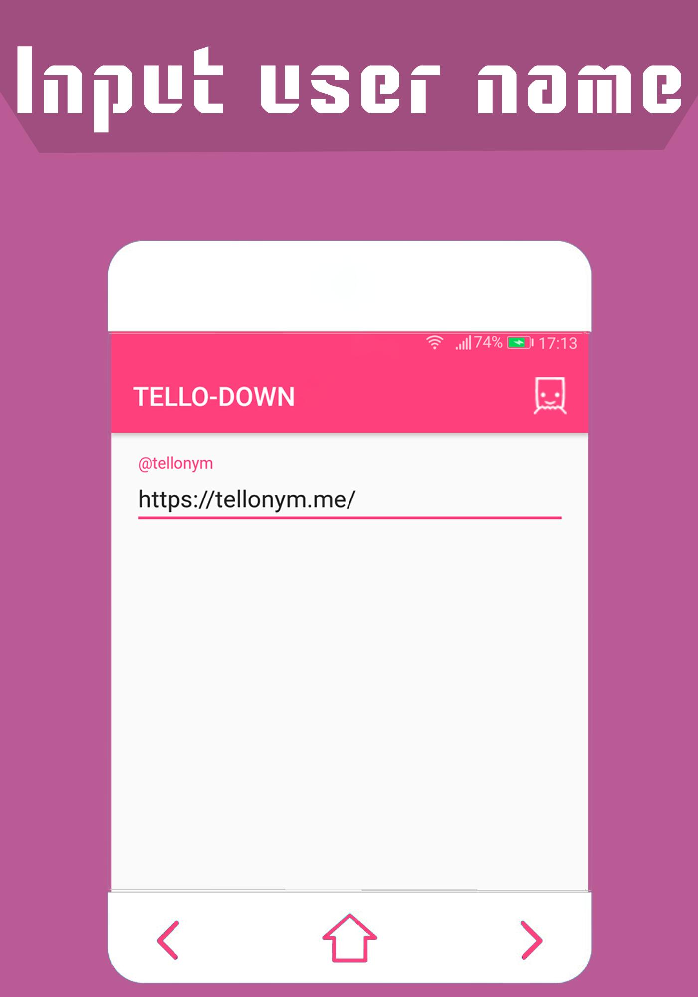 TELLO-DOWN: Tellonym profile picture downloader for Android