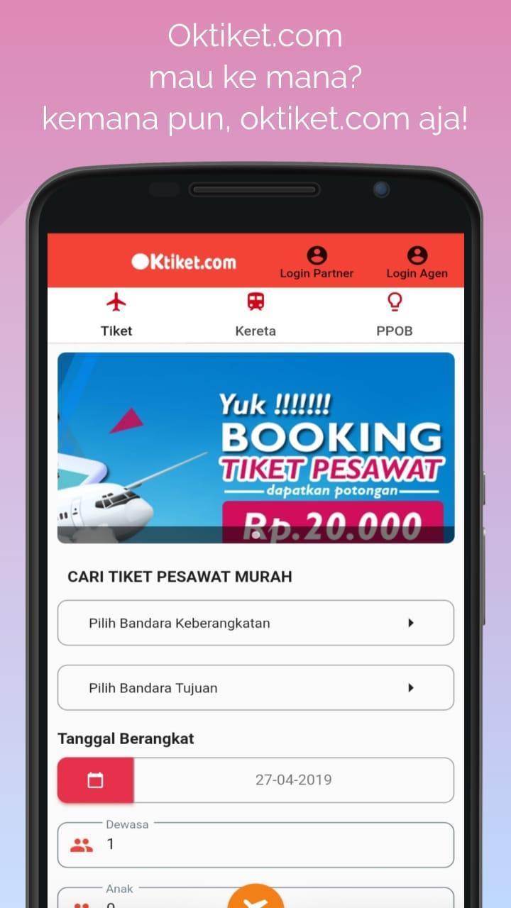 Oktiket Com Cari Booking Tiket Pesawat Murah For Android Apk Download