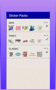 Happy New Year Stickers (WAStickerApps) screenshot 5
