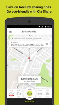 Ola cabs - Taxi, Auto, Car Rental, Share Booking स्क्रीनशॉट 1