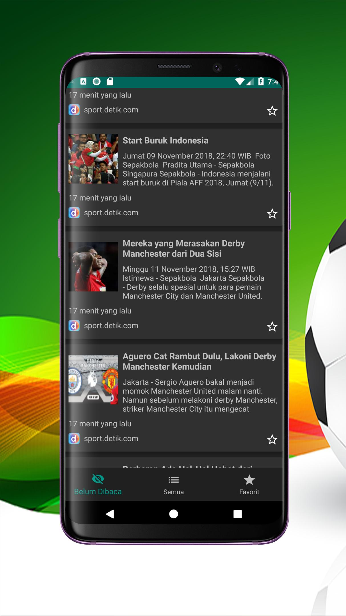 Berita Sepak Bola For Android APK Download