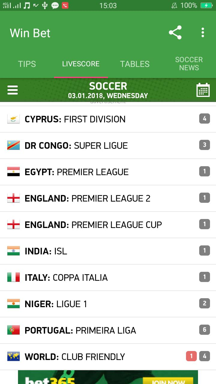 Win bet - Today soccer predictions for Android - APK Download