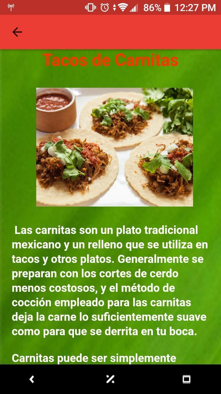 Recetas De Comida Mexicana Gratis For Android Apk Download